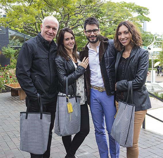 Gilberto Elkis, Bruna Fabris, Bruno GAP e Carolina Elkis. Foto Rafael GAP